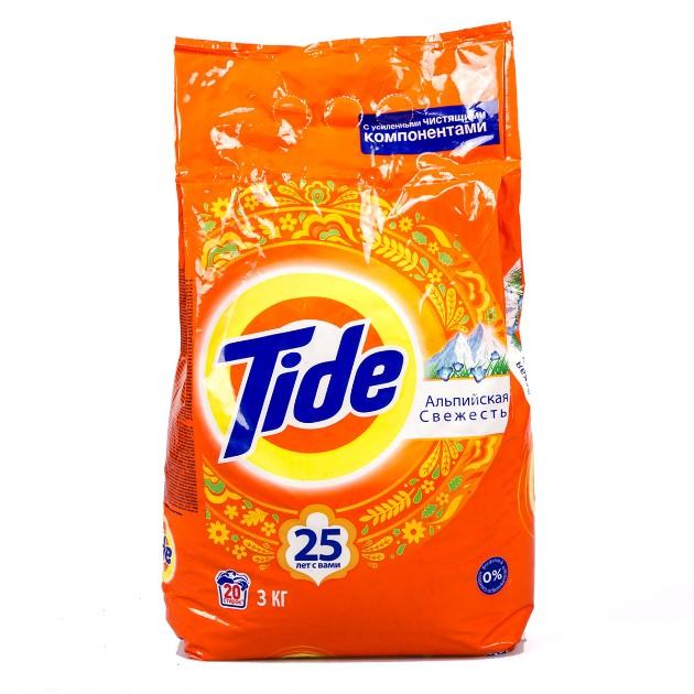 Порошок стиральный Tide Аква-пудра автомат 3кг альпийская свежесть