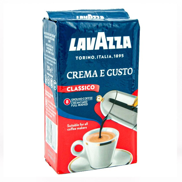 Кофе молотый Lavazza Crema e Gusto 250гр