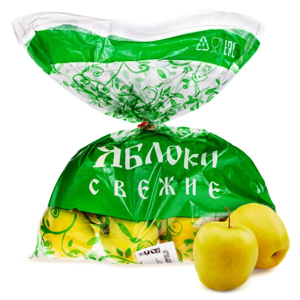 Яблоки Голден фасованные