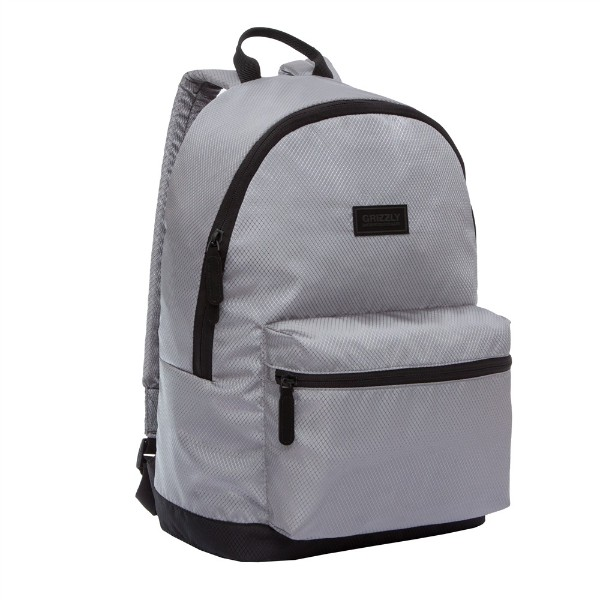 Рюкзак Grizzly 30х44х15см серый