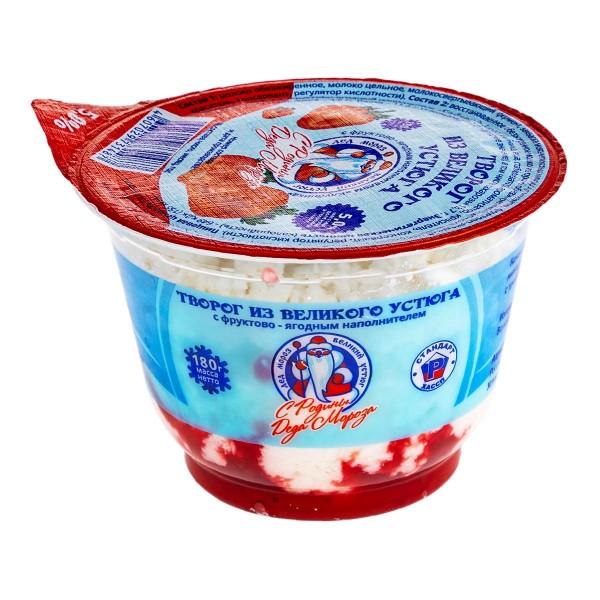 Творог с фруктово-ягодным наполнителем Великий Устюг 5% 180г БЗМЖ