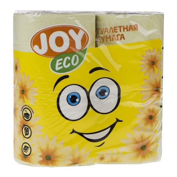 Бумага туалетная Joy Eco цветная 2 слоя 4 рулона