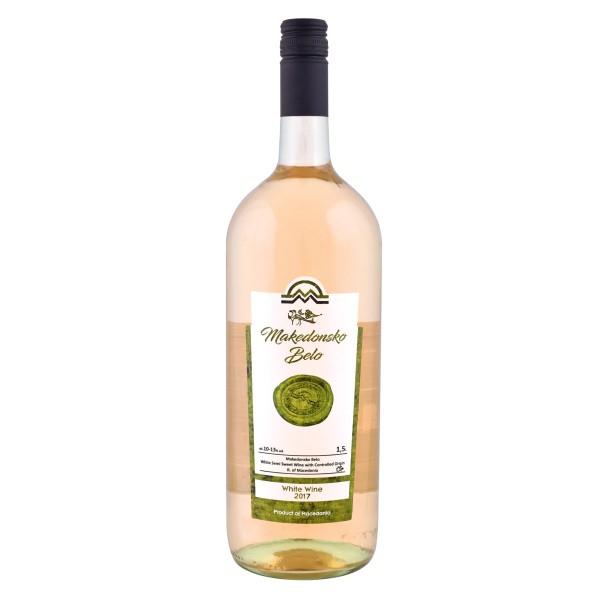 Вино белое полусладкое Tikves Makedonsko Belo 13% 1,5л