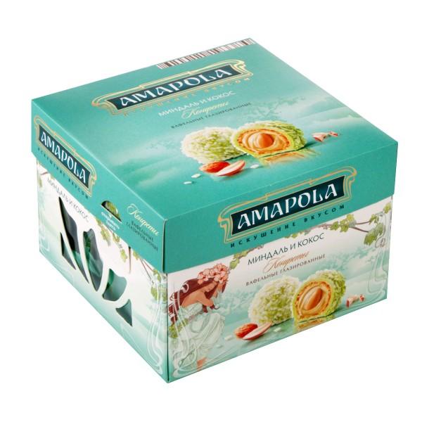 Конфеты вафельные Amapola 100гр миндаль и кокос
