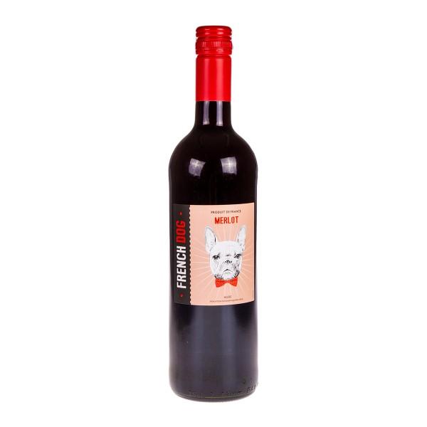 Вино  красное полусухое French Dog  Merlot 12,5% 0,75л