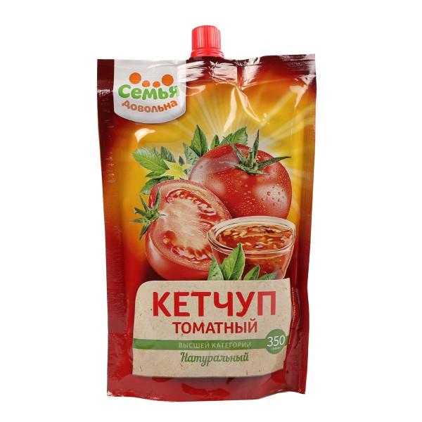 Кетчуп Томатный Семья довольна 350гр