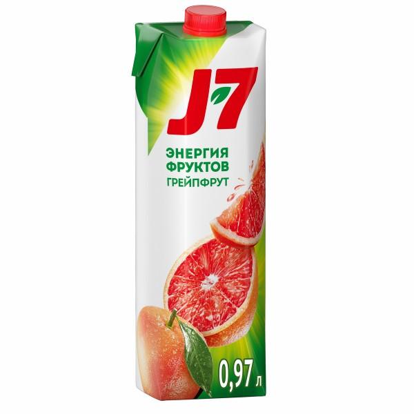 Нектар J-7 0,97л грейпфрут с мякотью