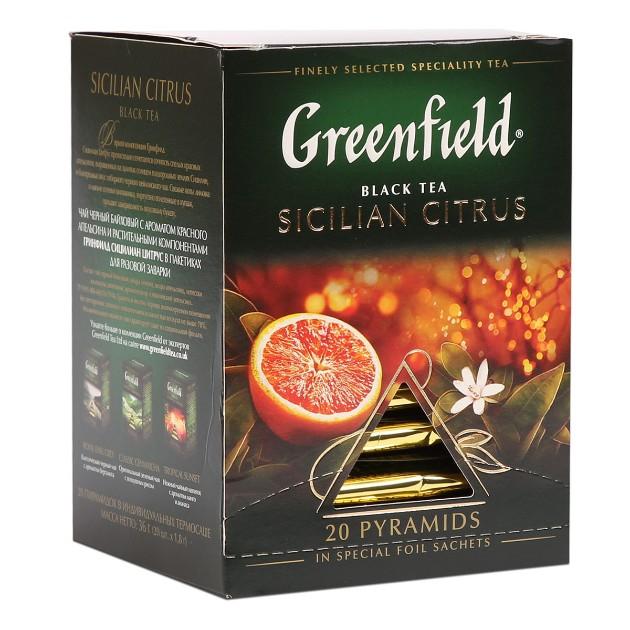 Чай черный Greenfield Sicilian Citrus 20 пиррамидок