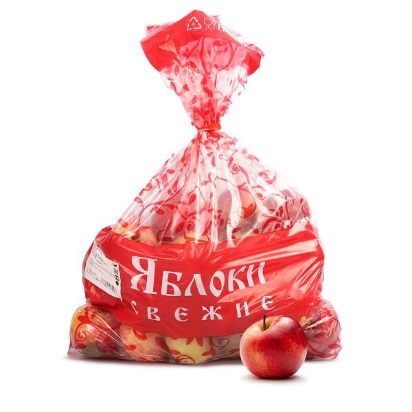 Яблоки красные фасованные