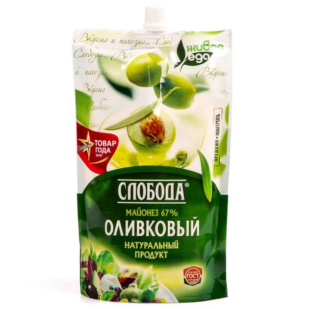 Майонез Оливковый 67% Слобода 400мл