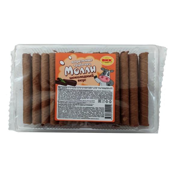 Вафельные трубочки Молли с шоколадным вкусом Булочно-кондитерский комбинат 220гр