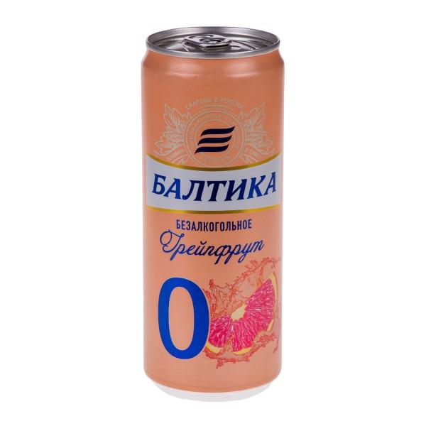 Напиток пивной безалкогольный Балтика №0 Грейпфрут 0,33л