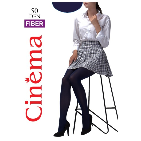 Колготки женские Cinema by Opium Fiber 50 den blu 4