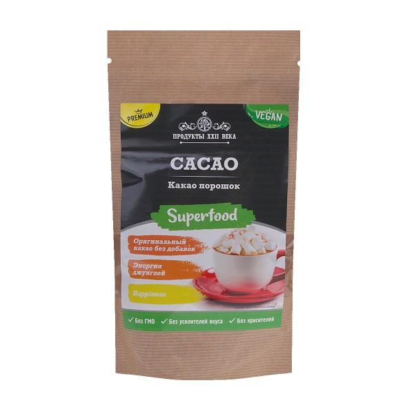 Какао-порошок натуральный Продукты XXII века 200гр