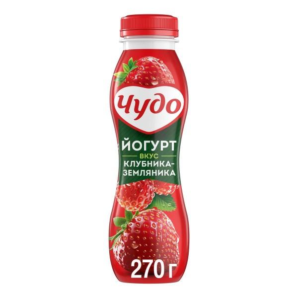 Йогурт питьевой Чудо 2,4% 270гр клубника-земляника БЗМЖ