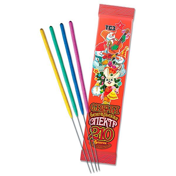 Свечи бенгальские Русский фейерверк 210 спектр