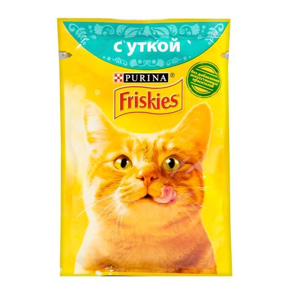 Корм для кошек Friskies 85гр с уткой