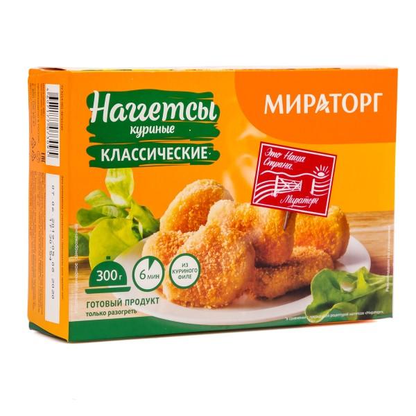 Наггетсы куриные Мираторг 300гр классические