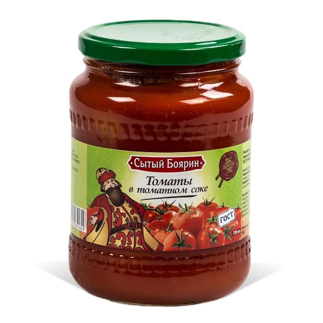 Томаты в томатном соке Сытый боярин 720мл