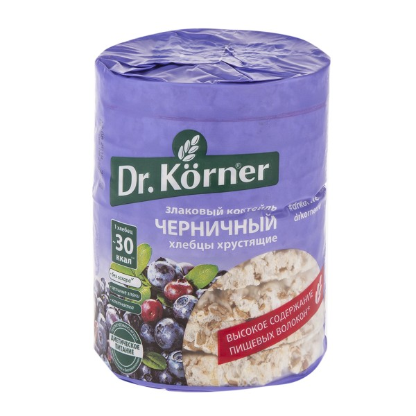 Хлебцы Dr.Kerner 100гр злаковый коктейль черничный