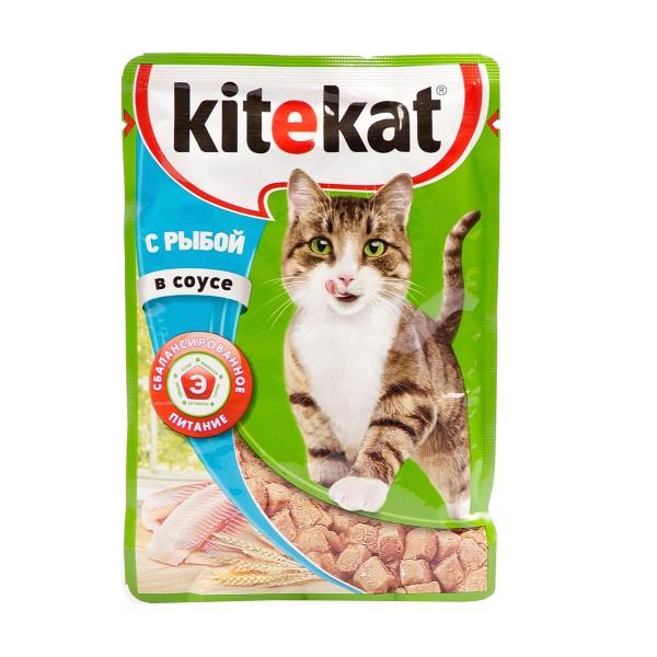 Корм для кошек Kitekat 85гр с рыбой в соусе