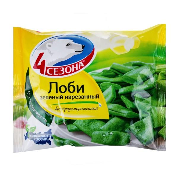 Лоби зеленый нарезанный Четыре сезона 400гр