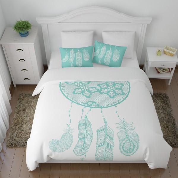 Комплект постельного белья Сирень полисатин 1,5-спальный