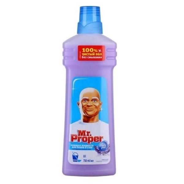 Средство для мытья полов и стен Mr.Proper 750мл лавандовое спокойствие