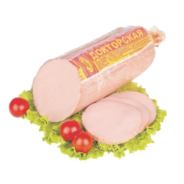 Колбаса вареная высший сорт категории А Докторская Мясные Продукты