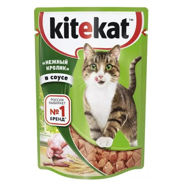 Корм для кошек Kitekat 85г нежный кролик в соусе