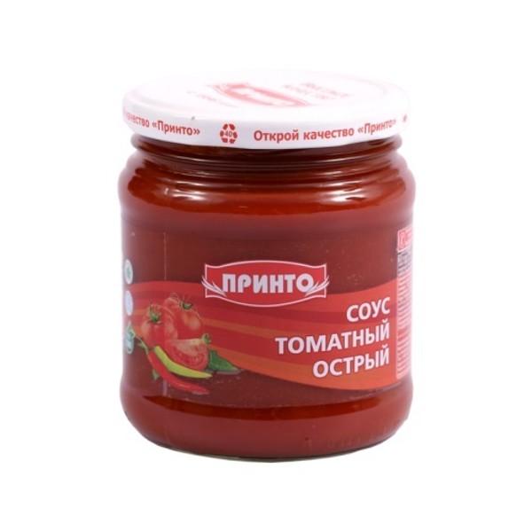 Соус томатный Острый Принто  460гр стекляная банка