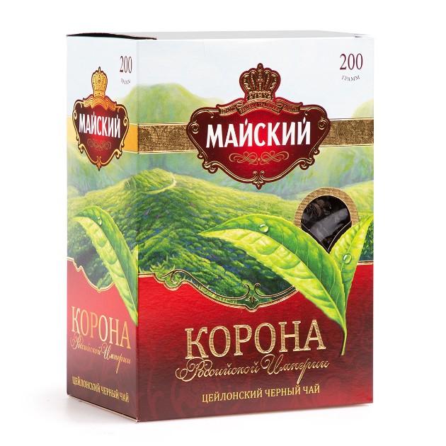 Чай черный Майский Корона российской империи 200гр