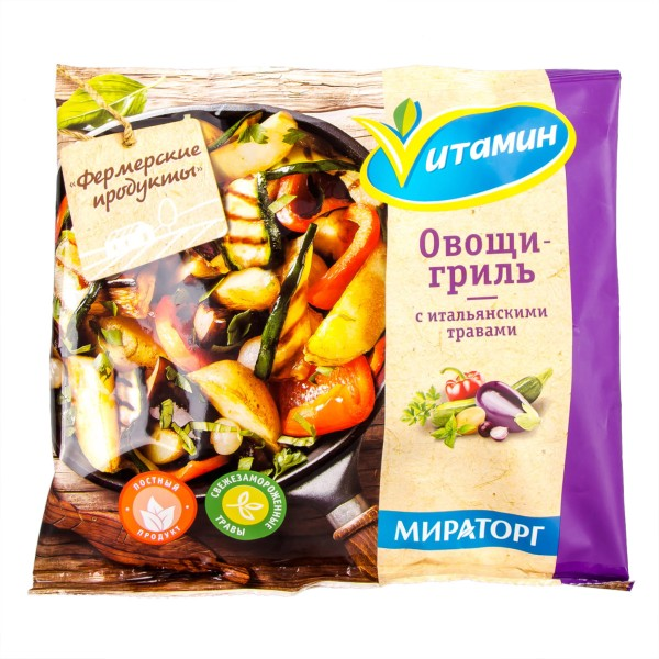 Овощи-гриль с итальянскими травами Vитамин Мираторг 400гр