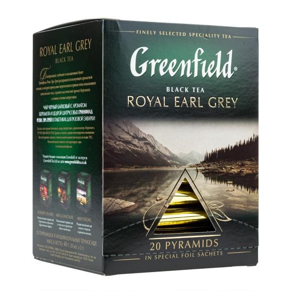 Чай черный Greenfield Royal Earl Grey 20 пирамидок