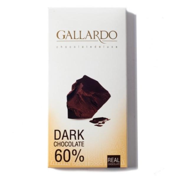 Шоколад горький 60% Gallardo Farmand 100г