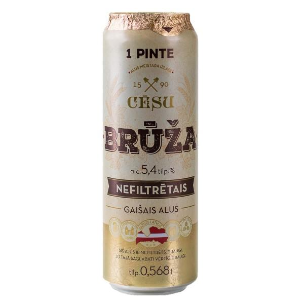 Пиво светлое Cesu bruza nefiltrets  5,4% 0,568л