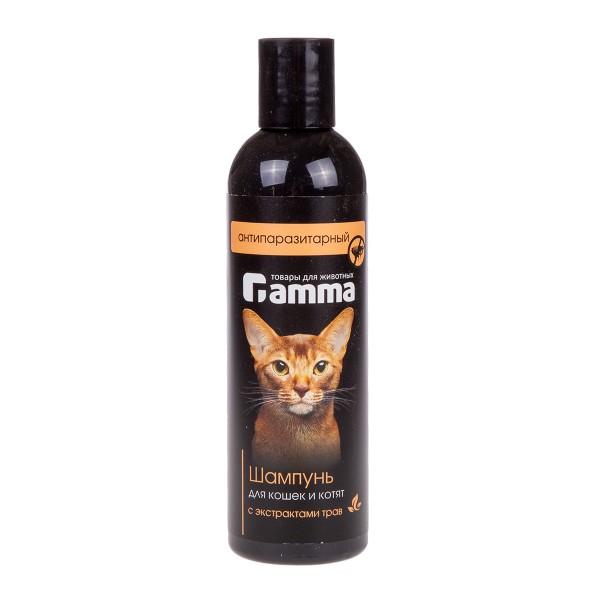 Шампунь для кошек Гамма Антипаразитный с экстрактом трав 250мл