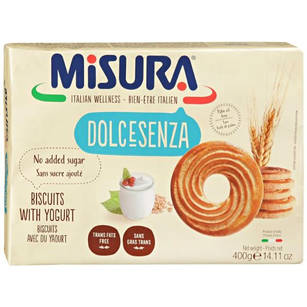 Печенье без добавления сахара с йогуртом Dolcesenza Misura 400г