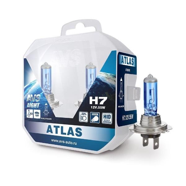Лампа галогенная AVS Atlas PB/5000К/PB H7 12V 55W 2шт