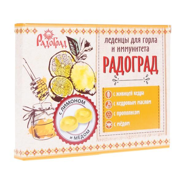 Карамель леденцовая с прополисом Радоград 32гр лимон и мёд на сахаре