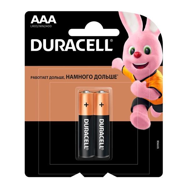 Батарейка Duracell basic LR03-2BL ААА 2шт