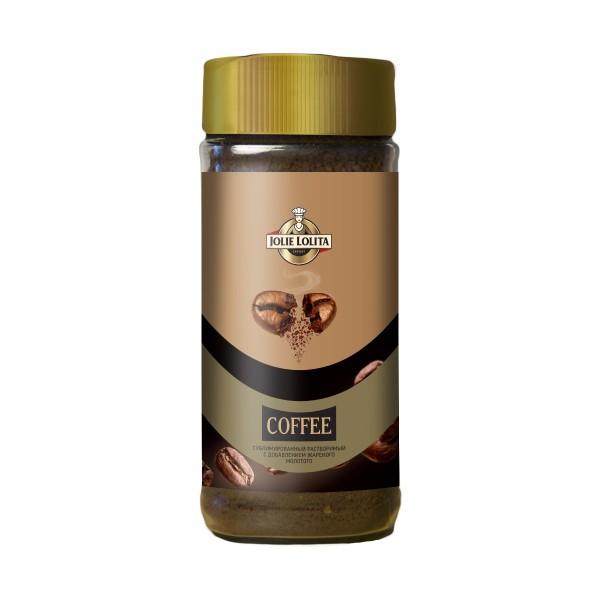 Кофе сублимированный Jolie Lolita с добавлением молотого жареного 95г