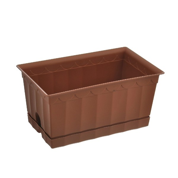 Ящик для цветов с поддоном Полимербыт 20см