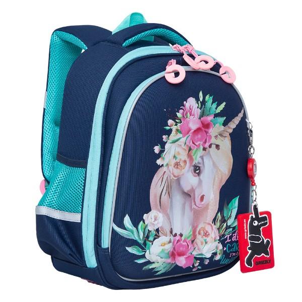 Рюкзак школьный Grizzly 28х36х20см