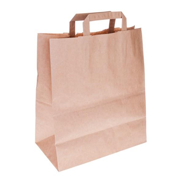 Пакет бумажный с плоскими ручками 280х320х150мм