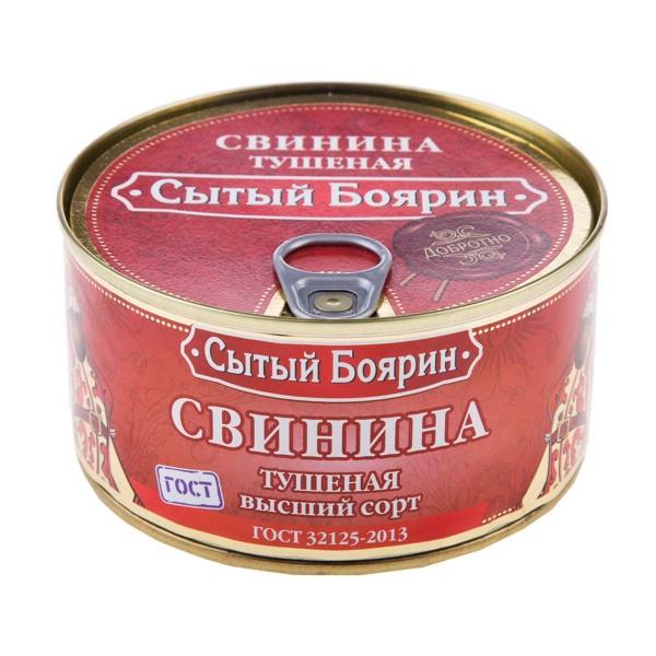 Свинина тушеная ГОСТ Сытый боярин 325гр