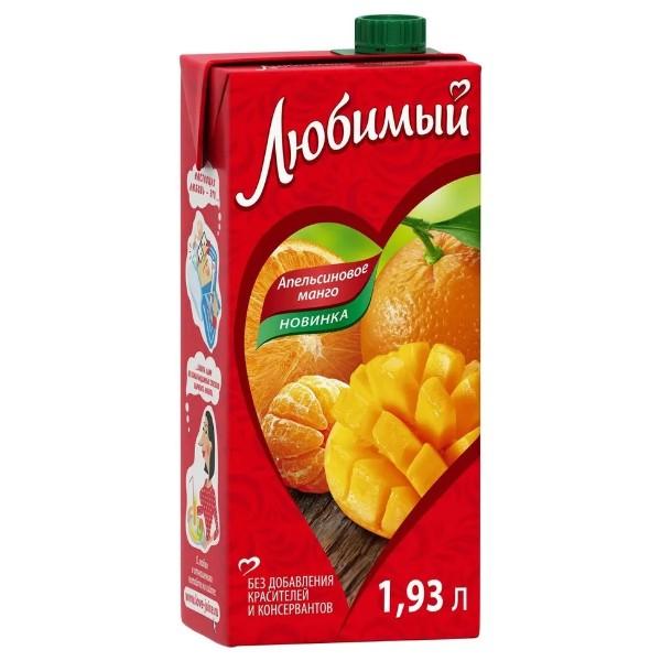 Напиток сокосодержащий Любимый 1,93л апельсиновое манго
