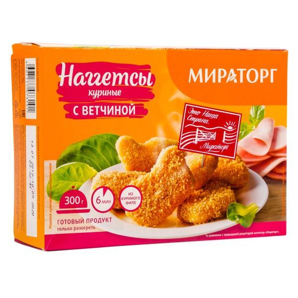 Наггетсы куриные Мираторг 300гр с ветчиной