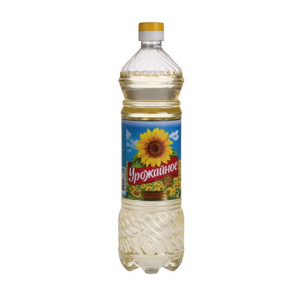 Масло подсолнечное Урожайное рафинированное 0,87л