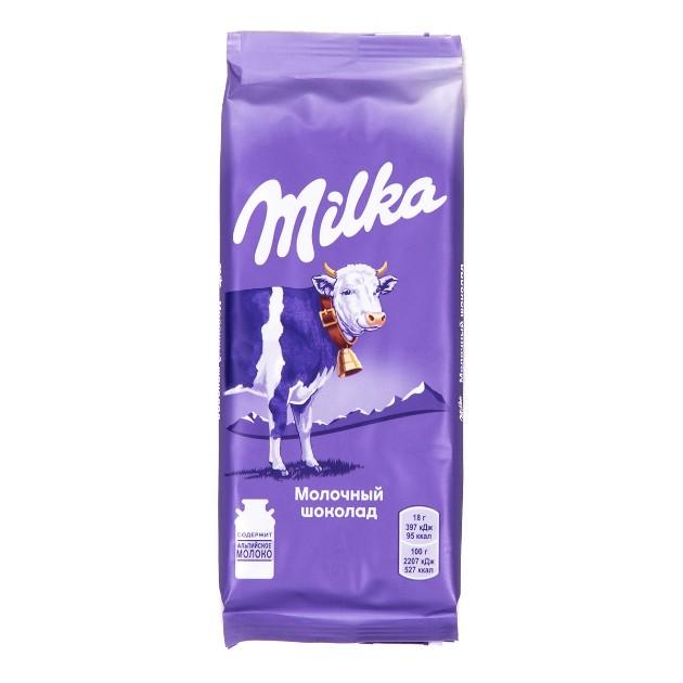 Шоколад молочный Milka 90гр